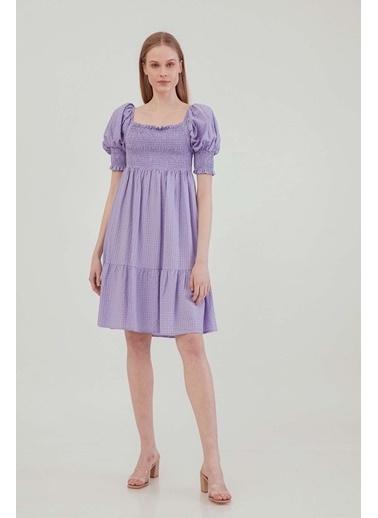 Vitrin Gipeli Kare Yaka Country Elbise Lila